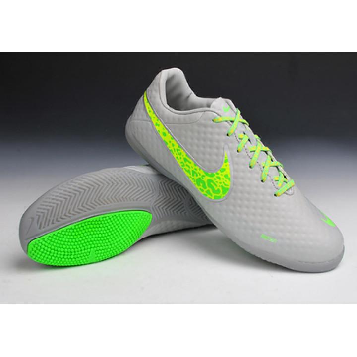 Футзалки Nike T5, серый с зеленым